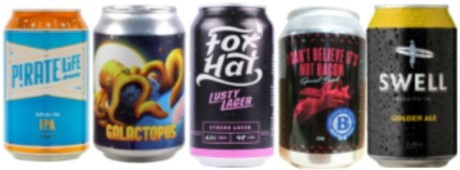 Adelaide's Craft beers in cans